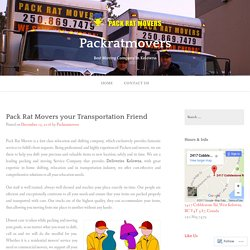 Pack Rat Movers your Transportation Friend