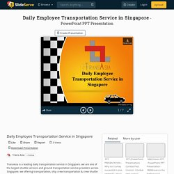 Daily Employee Transportation Service in Singapore