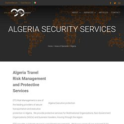 Secure Transportation and Executive Protection in Algeria