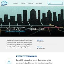 Digital-age transportation