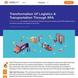 Transformation Of Logistics & Transportation Through RPA