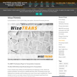 Get OCR Software For Transportation By WiseTREND