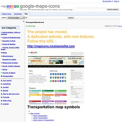 TransportationIcons - google-maps-icons - More than 1000 free and descriptive map POI markers, icons, for your maps