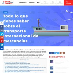 Todo lo que debes saber sobre el transporte internacional de mercancías - Liberty Express