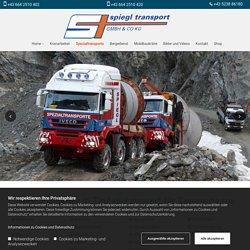Spiegl Transporte - Spezialtransporte