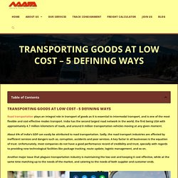 Transporting Goods At Low Cost - 5 Ultimate Ways - Navata