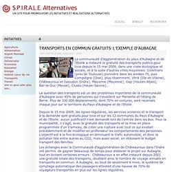 TRANSPORTS EN COMMUN GRATUITS: L'EXEMPLE D'AUBAGNE