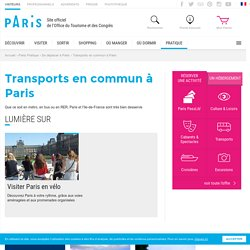 Office de tourisme Paris , Transports en commun
