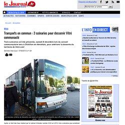 Transports en commun : 3 scénarios pour desservir Vitré communauté « Les articles de le Journal de Vitré