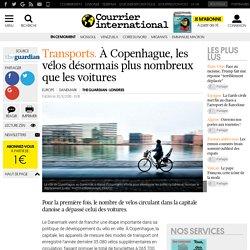 Transports. À Copenhague, les vélos désormais plus nombreux que les voitures