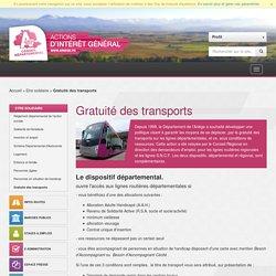 Département de l'Ariège - Gratuité des transports