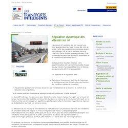 Régulation dynamique des vitesses sur A7