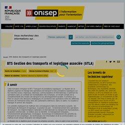 BTS Gestion des transports et logistique associée - Onisep