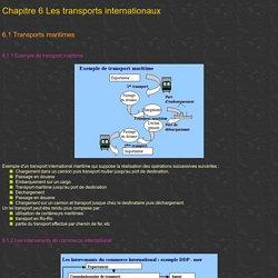 Chapitre 1 Les transports terrestres de marchandises