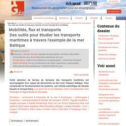 Des outils pour étudier les transports maritimes à travers l'exemple de la mer Baltique