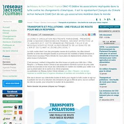Transports et pollutions - Une feuille de route pour mieux respirer