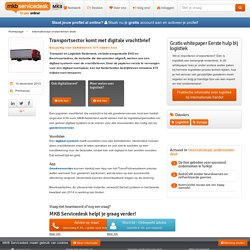 Transportsector komt met digitale vrachtbrief
