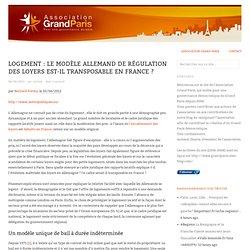 Logement : Le modèle allemand de régulation des loyers est-il transposable en France ?