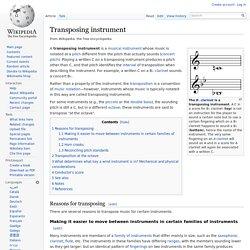 Transposing instrument