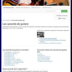 dictionnaire des accords de guitare - position transposition enrichissement substitution majeur mineur diminué