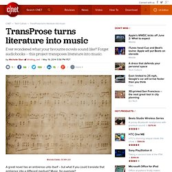 TransProse turns literature into music
