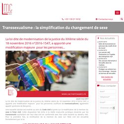 Transsexualisme : la simplification du changement de sexe
