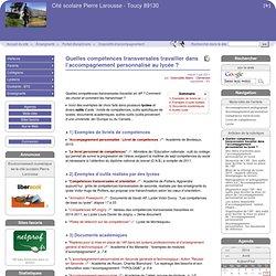[Cité scolaire Pierre Larousse - Toucy] Quelles compétences transversales travailler dans l'accompagnement personnalisé au lycée ?