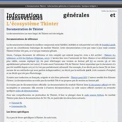 Informations générales et transversales — Documentation