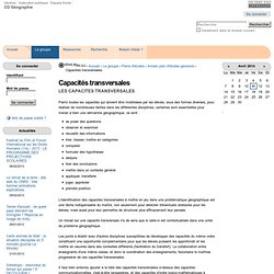 Capacités transversales — CO géographie