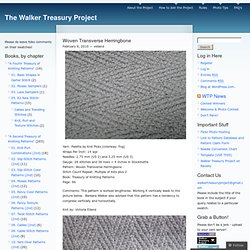 Woven Transverse Herringbone | The Walker Treasury Project