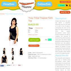 Truly tribal trapeze tank top