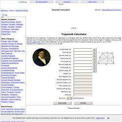 Trapezoid - Geometry Calculator