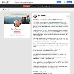 Mark Traphagen - Google+ - Social Media and SEO Blend with +Eric Enge…