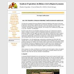 Une trappe à pollen propre - Syndicat d'Apiculture du Rhône