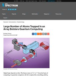 Large Number of Atoms Trapped In an Array Bolsters Quantum Computing