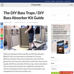 The DIY Bass Traps / DIY Bass Absorber Kit Guide - Acoustic Fields