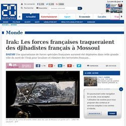 Irak: Les forces françaises traqueraient des djihadistes français à Mossoul