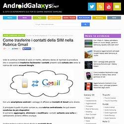Come trasferire i contatti della SIM nella Rubrica Gmail