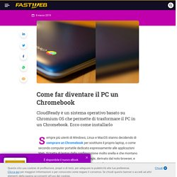 Come trasformare un laptop in un Chromebook - FASTWEB