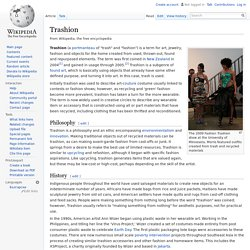 Trashion