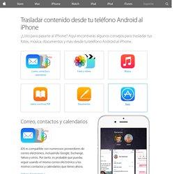 Trasladar contenido desde tu teléfono Android al iPhone - Soporte técnico de Apple