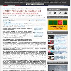 """Il MIUR """"trasmette"""" la Direttiva sul Sistema nazionale di valutazione"""