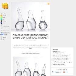 Trasparente (Transparent) Carafe by Andreas Trenker