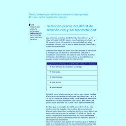 ADHD Trastorno por déficit de la atención e hiperquinesia