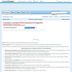 Concepto y conceptos de los trastornos de Cognición, Afectividad y Donación