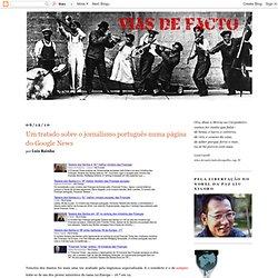 Um tratado sobre o jornalismo português numa página do Google News