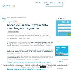 Apnea del sueño, tratamiento con cirugía ortognática - ConsultaClick