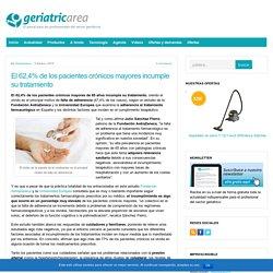 El 62,4% de los pacientes crónicos mayores incumple su tratamiento - Geriatricarea.com : Geriatricarea.com
