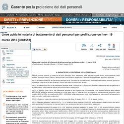 Linee guida in materia di trattamento di dati personali per profilazione on line