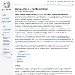Trauma model of mental disorders